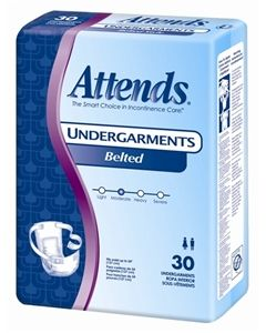 Attends Belted Undergarments Adult Incontinence Bladder Control Pad