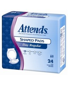 Attends Shaped Pads - Day Regular Adult Incontinence Bladder Control Pad - 24.5 Inch