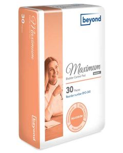 Beyond Maximum Adult Incontinence Bladder Control Pad - 10.5 Inch