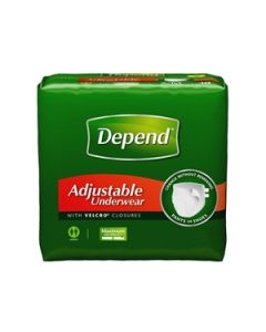 Depend Adjustable Adult Diaper Brief for Incontinence