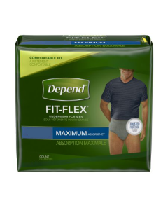 Depend Fit-Flex for Men, Maximum  Adult Incontinence Pullup Diaper