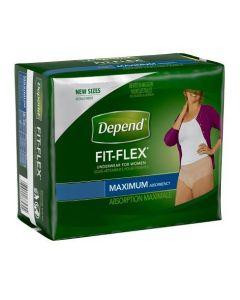 Depend Fit-Flex for Women, Maximum  Adult Incontinence Pullup Diaper