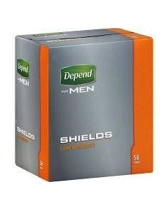 Depend Shields Adult Incontinence Bladder Control Pad