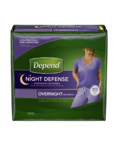 Depend Women's Night Defense Adult Incontinence Pullup Diaper