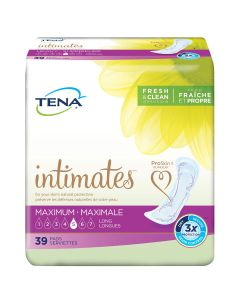 TENA Intimates Maximum Long Adult Incontinence Bladder Control Pad