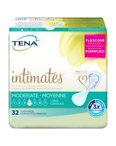 TENA Intimates Moderate Thin Long Adult Incontinence Bladder Control Pad - 13 Inch