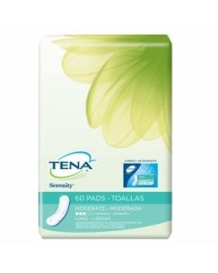 TENA Serenity Moderate Long Adult Incontinence Bladder Control Pad - 12 Inch