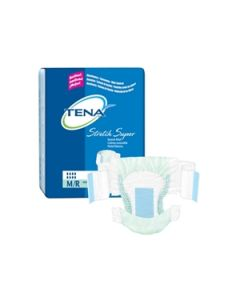 TENA Stretch Super Adult Diaper Brief for Incontinence