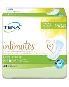 TENA Intimates Ultra Thin Light Long Adult Incontinence Bladder Control Pad - 10 Inch